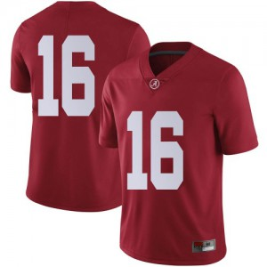 Men Alabama Crimson Tide Drew Sanders #16 College Crimson Limited Football Jersey 991946-379