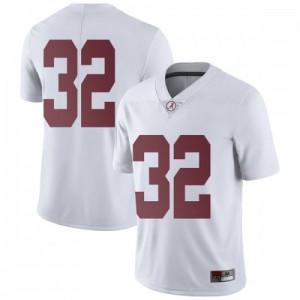 Men Alabama Crimson Tide Dylan Moses #32 College White Limited Football Jersey 520788-320