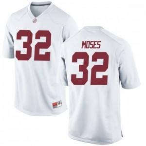 Men Alabama Crimson Tide Dylan Moses #32 College White Replica Football Jersey 662702-232