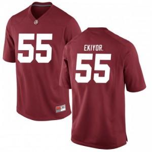 Men Alabama Crimson Tide Emil Ekiyor Jr. #55 College Crimson Game Football Jersey 938880-755