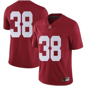 Men Alabama Crimson Tide Eric Poellnitz #38 College Crimson Limited Football Jersey 795435-796