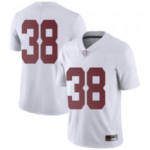 Men Alabama Crimson Tide Eric Poellnitz #38 College White Limited Football Jersey 836553-200