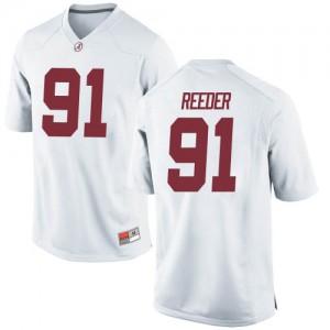 Men Alabama Crimson Tide Gavin Reeder #91 College White Game Football Jersey 396998-126