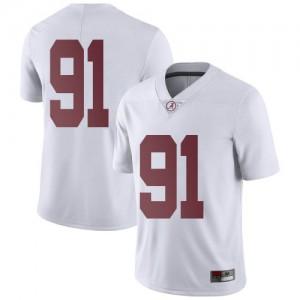 Men Alabama Crimson Tide Gavin Reeder #91 College White Limited Football Jersey 736168-520