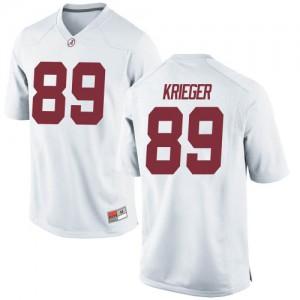 Men Alabama Crimson Tide Grant Krieger #89 College White Replica Football Jersey 505692-551