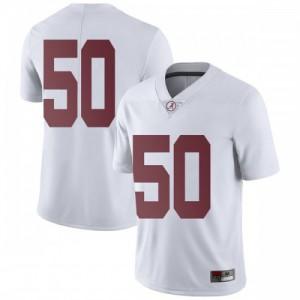 Men Alabama Crimson Tide Hunter Brannon #50 College White Limited Football Jersey 750605-772