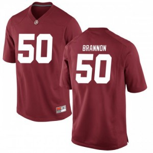 Men Alabama Crimson Tide Hunter Brannon #50 College Crimson Replica Football Jersey 316780-279