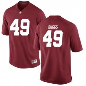 Men Alabama Crimson Tide Isaiah Buggs #49 College Crimson Replica Football Jersey 133221-724