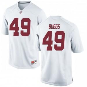 Men Alabama Crimson Tide Isaiah Buggs #49 College White Replica Football Jersey 298368-955