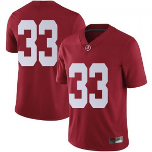 Men Alabama Crimson Tide Jackson Bratton #33 College Crimson Limited Football Jersey 725304-423