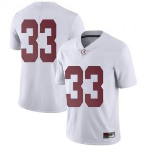 Men Alabama Crimson Tide Jackson Bratton #33 College White Limited Football Jersey 928293-201