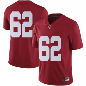 Men Alabama Crimson Tide Jackson Roby #62 College Crimson Limited Football Jersey 121993-491