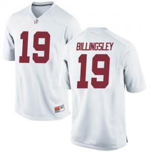 Men Alabama Crimson Tide Jahleel Billingsley #19 College White Game Football Jersey 616386-312