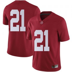 Men Alabama Crimson Tide Jahquez Robinson #21 College Crimson Limited Football Jersey 133433-516