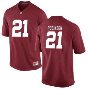 Men Alabama Crimson Tide Jahquez Robinson #21 College Crimson Replica Football Jersey 635019-229