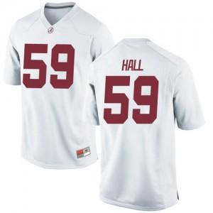 Men Alabama Crimson Tide Jake Hall #59 College White Replica Football Jersey 884866-155