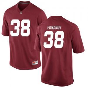 Men Alabama Crimson Tide Jalen Edwards #38 College Crimson Replica Football Jersey 794638-970