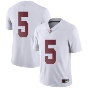 Men Alabama Crimson Tide Jalyn Armour-Davis #5 College White Limited Football Jersey 807622-319