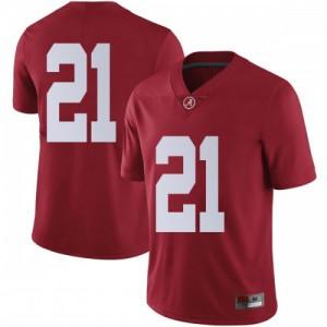 Men Alabama Crimson Tide Jared Mayden #21 College Crimson Limited Football Jersey 981536-138
