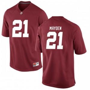 Men Alabama Crimson Tide Jared Mayden #21 College Crimson Replica Football Jersey 817774-685