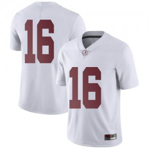 Men Alabama Crimson Tide Jayden George #16 College White Limited Football Jersey 339829-846