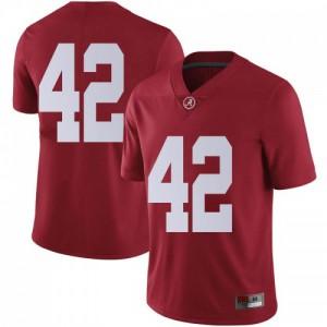 Men Alabama Crimson Tide Jaylen Moody #42 College Crimson Limited Football Jersey 219655-733