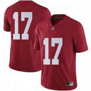 Men Alabama Crimson Tide Jaylen Waddle #17 College Crimson Limited Football Jersey 680106-429