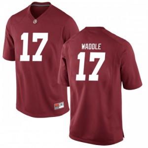 Men Alabama Crimson Tide Jaylen Waddle #17 College Crimson Replica Football Jersey 156153-778