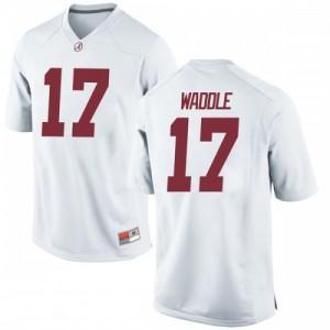 Men Alabama Crimson Tide Jaylen Waddle #17 College White Replica Football Jersey 616241-641