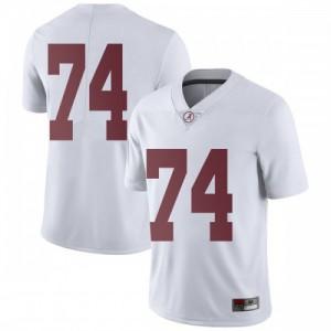 Men Alabama Crimson Tide Jedrick Wills Jr. #74 College White Limited Football Jersey 506911-777