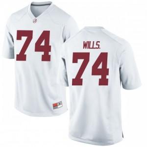 Men Alabama Crimson Tide Jedrick Wills Jr. #74 College White Replica Football Jersey 473220-838