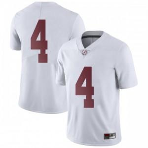 Men Alabama Crimson Tide Jerry Jeudy #4 College White Limited Football Jersey 790259-711