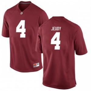 Men Alabama Crimson Tide Jerry Jeudy #4 College Crimson Replica Football Jersey 326361-661