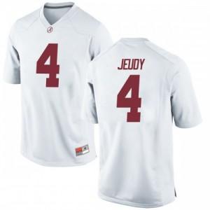 Men Alabama Crimson Tide Jerry Jeudy #4 College White Replica Football Jersey 893919-657