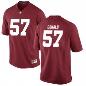 Men Alabama Crimson Tide Joe Donald #57 College Crimson Replica Football Jersey 393004-784