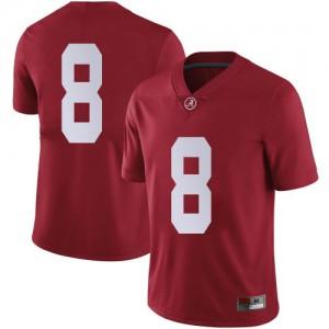 Men Alabama Crimson Tide John Metchie III #8 College Crimson Limited Football Jersey 686815-811