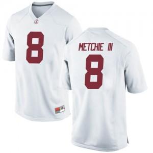Men Alabama Crimson Tide John Metchie III #8 College White Replica Football Jersey 544830-962