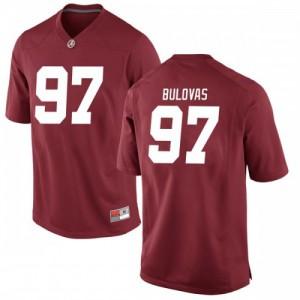 Men Alabama Crimson Tide Joseph Bulovas #97 College Crimson Game Football Jersey 645845-805
