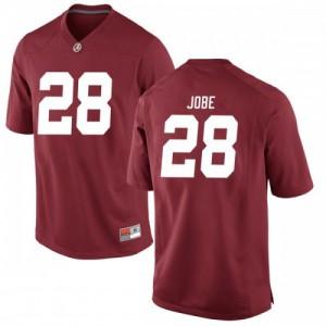 Men Alabama Crimson Tide Josh Jobe #28 College Crimson Replica Football Jersey 366495-700