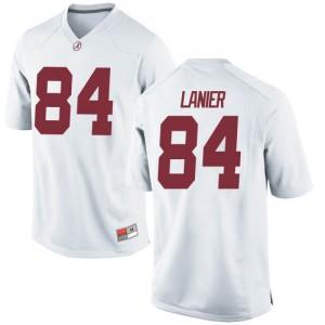 Men Alabama Crimson Tide Joshua Lanier #84 College White Game Football Jersey 792354-950
