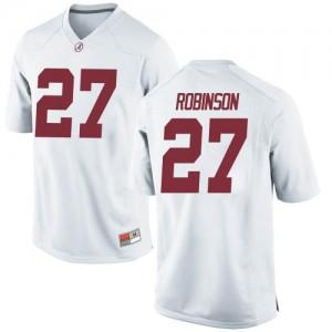 Men Alabama Crimson Tide Joshua Robinson #27 College White Replica Football Jersey 289520-469