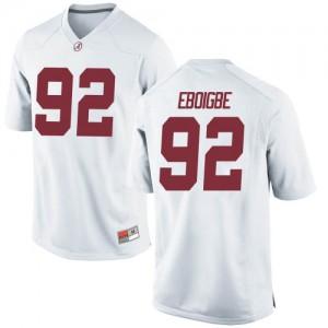 Men Alabama Crimson Tide Justin Eboigbe #92 College White Replica Football Jersey 442310-521