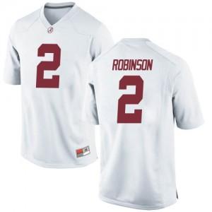 Men Alabama Crimson Tide Keilan Robinson #2 College White Replica Football Jersey 153709-554