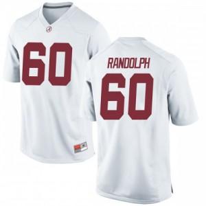 Men Alabama Crimson Tide Kendall Randolph #60 College White Game Football Jersey 138800-729