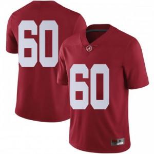 Men Alabama Crimson Tide Kendall Randolph #60 College Crimson Limited Football Jersey 426059-145