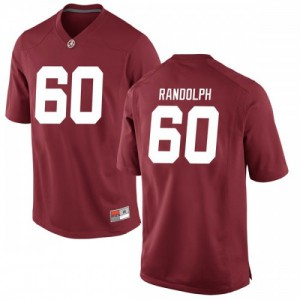 Men Alabama Crimson Tide Kendall Randolph #60 College Crimson Replica Football Jersey 697434-781