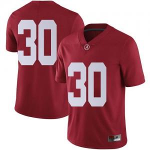 Men Alabama Crimson Tide King Mwikuta #30 College Crimson Limited Football Jersey 751823-918