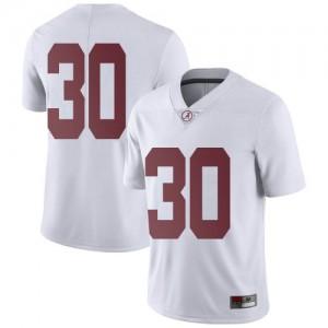 Men Alabama Crimson Tide King Mwikuta #30 College White Limited Football Jersey 570763-837