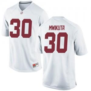 Men Alabama Crimson Tide King Mwikuta #30 College White Replica Football Jersey 277380-559