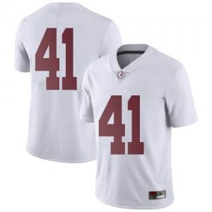 Men Alabama Crimson Tide Kyle Smoak #41 College White Limited Football Jersey 932133-550